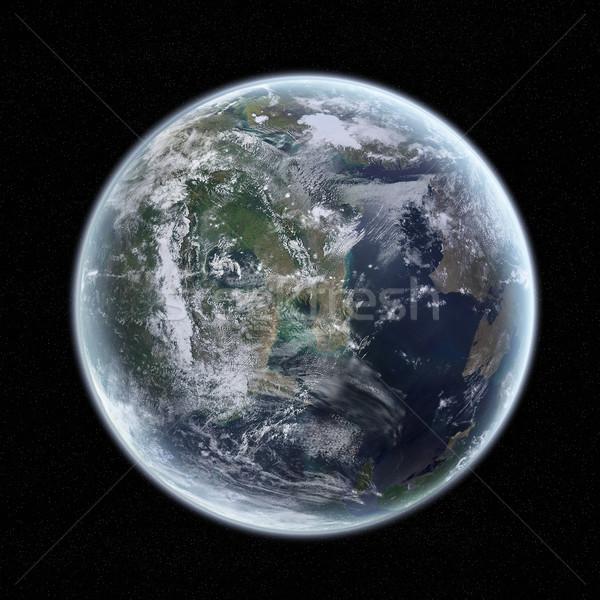 мнение планете Земля пространстве небе мира солнце Сток-фото © sdecoret