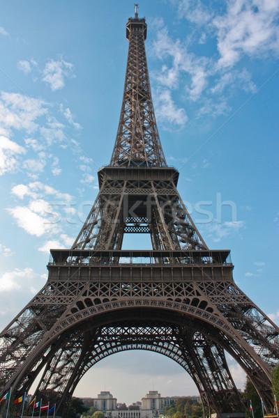 Париж Эйфелева башня город солнце путешествия Сток-фото © sdecoret