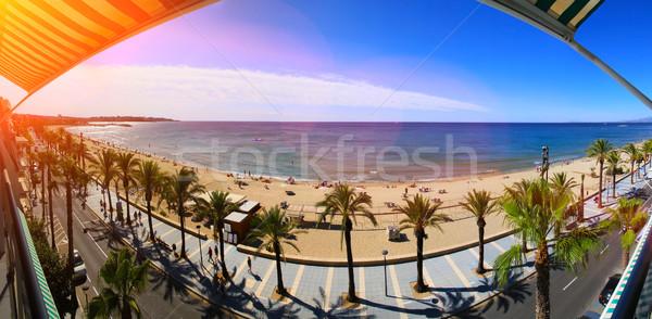 View of Platja Llarga beach in Salou Spain Stock photo © sdecoret