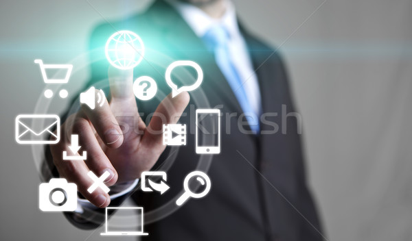 Businessman multimedia concept Stock photo © sdecoret