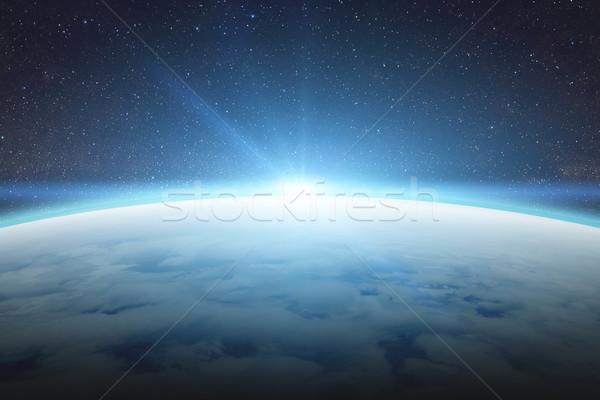 日の出 地球 スペース 表示 太陽 日没 ストックフォト © sdecoret
