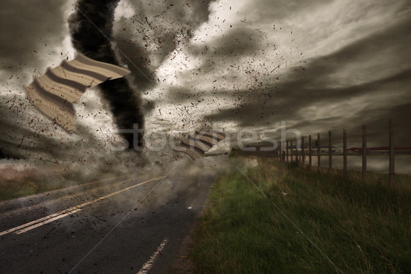 Büyük kasırga görmek alan fırtına Stok fotoğraf © sdecoret