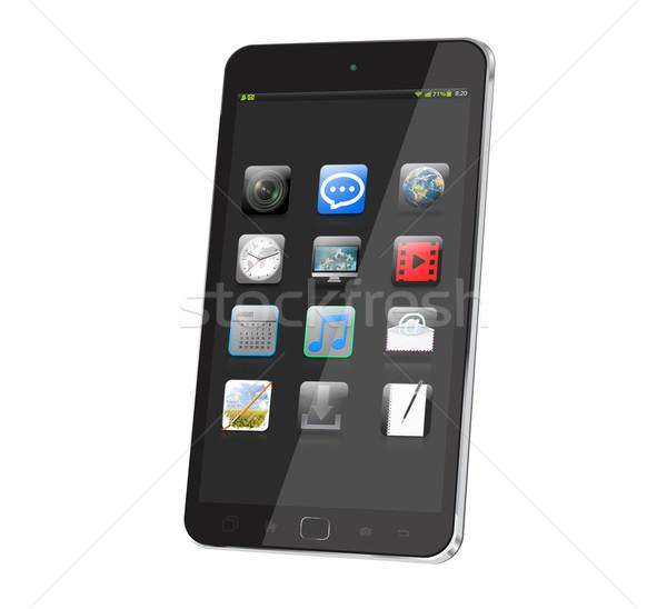 Moderna digital blanco mundo tecnología Foto stock © sdecoret