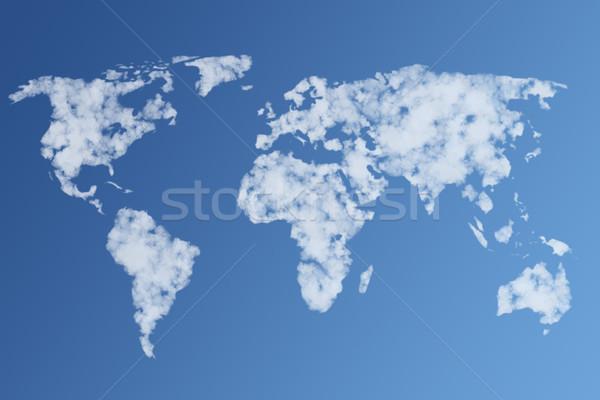 illustration of clouds the world Stock photo © sdecoret