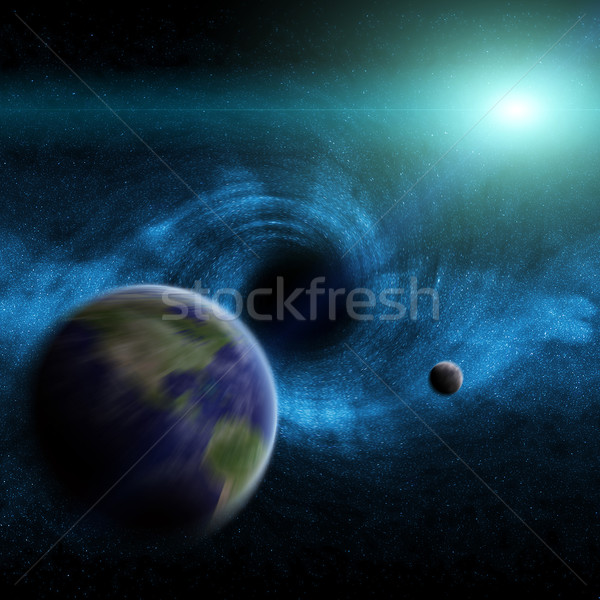 Black hole in space Stock photo © sdecoret