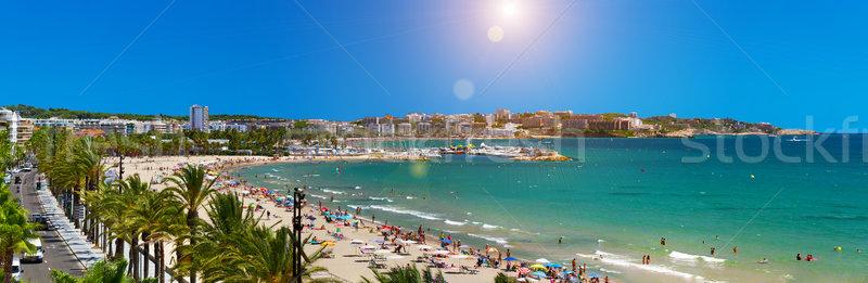 Görmek plaj İspanya son zemin sahil Stok fotoğraf © sdecoret