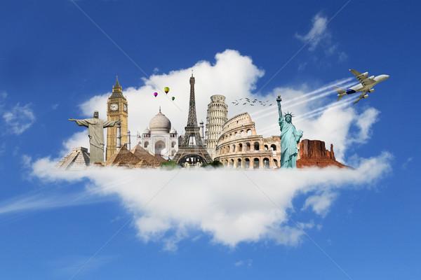 örnek ünlü dünya anıtlar toprak yaz Stok fotoğraf © sdecoret