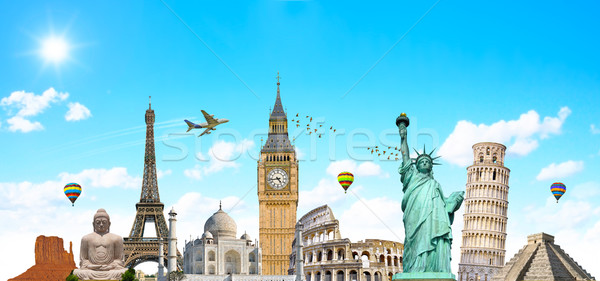 Famoso monumentos mundo terra verão viajar Foto stock © sdecoret