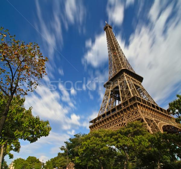 パリ エッフェル塔 市 太陽 旅行 ストックフォト © sdecoret