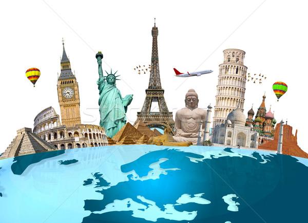 Stok fotoğraf: ünlü · anıtlar · dünya · dünya · toprak · yaz