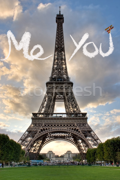 Love in Paris Eiffel Tower Stock photo © sdecoret