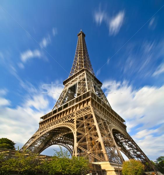 Paris Eyfel Kulesi şehir güneş seyahat Stok fotoğraf © sdecoret