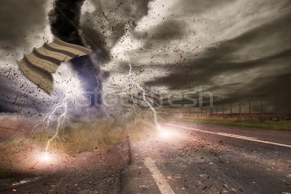 большой торнадо катастрофа мнение области Storm Сток-фото © sdecoret