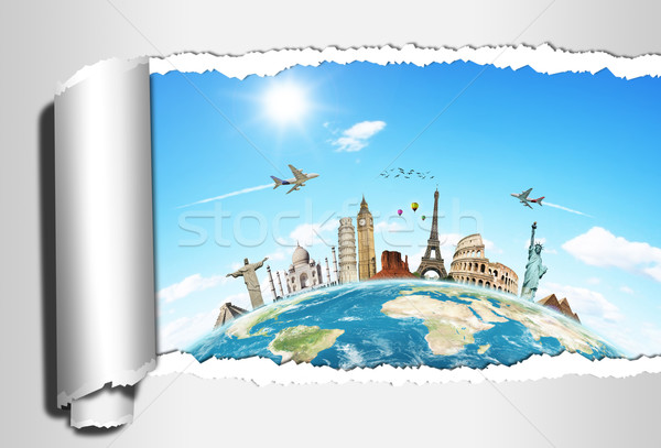 Illustration of famous monument of the world Stock photo © sdecoret