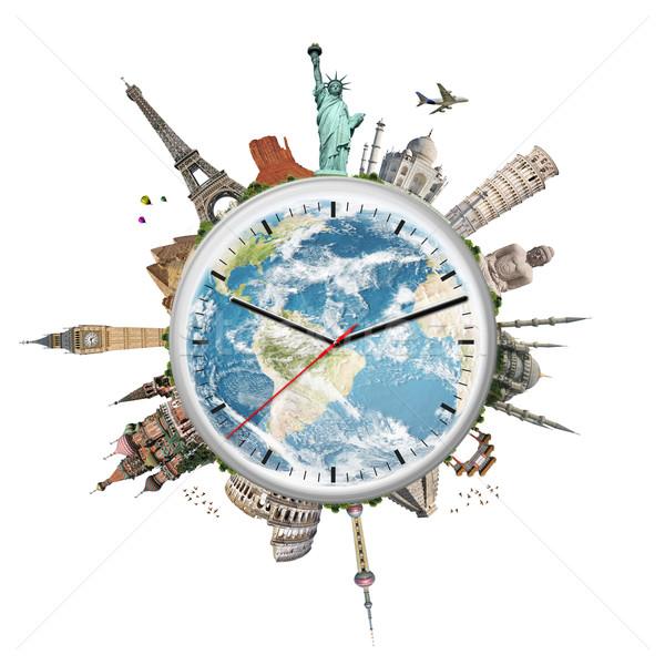 иллюстрация часы известный памятники Мир мира Сток-фото © sdecoret