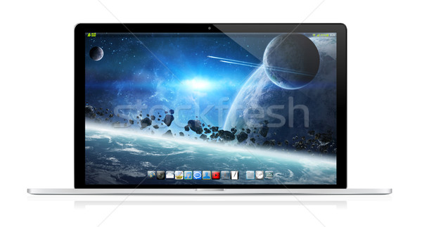 современных ноутбука белый цифровой серебро черный Сток-фото © sdecoret
