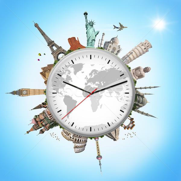 実例 クロック 有名な モニュメント 世界 地球 ストックフォト © sdecoret