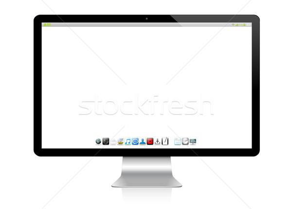 современных компьютер белый цифровой серебро черный Сток-фото © sdecoret