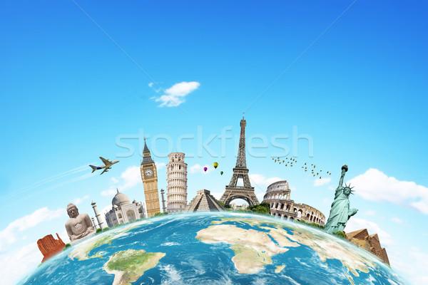 örnek ünlü dünya anıtlar birlikte dünya gezegeni Stok fotoğraf © sdecoret