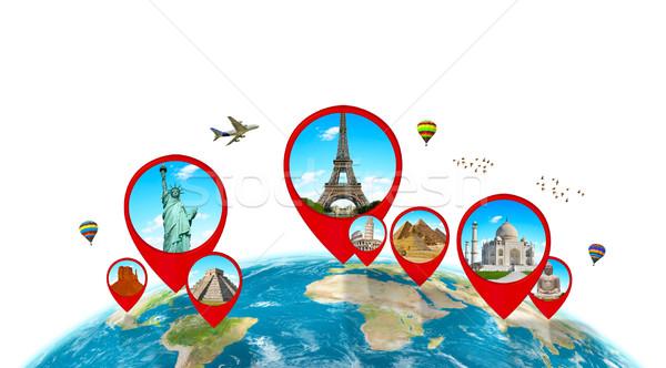 памятники Мир планете Земля белый известный вместе Сток-фото © sdecoret