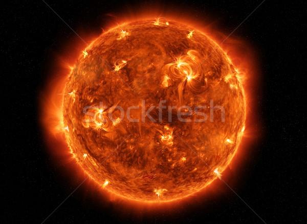 мощный солнце пространстве мнение сжигание Сток-фото © sdecoret
