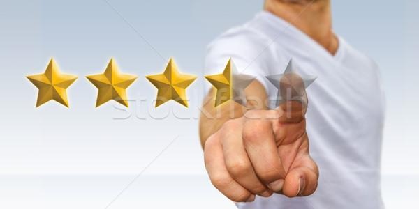 Jonge man sterren jonge zakenman digitale Stockfoto © sdecoret