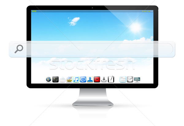 Modern computer with empty web bar Stock photo © sdecoret