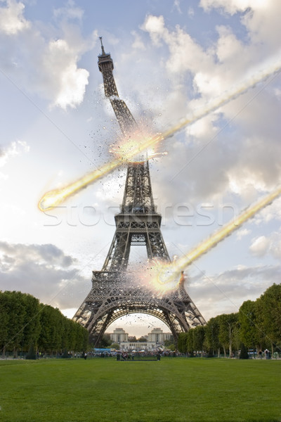 Meteorite shower on the Eiffel Tower Stock photo © sdecoret