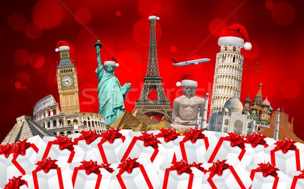 известный памятники Мир Рождества вместе Сток-фото © sdecoret