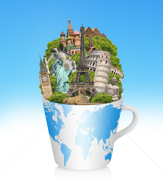 Stock photo: Illustration of famous monument of the world