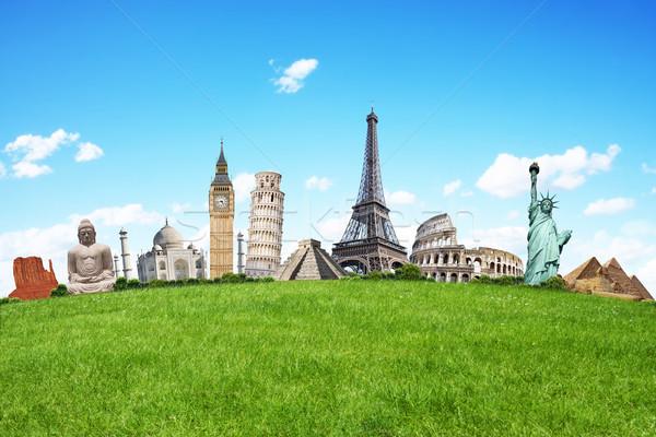 örnek ünlü yeşil ot anıtlar dünya toprak Stok fotoğraf © sdecoret