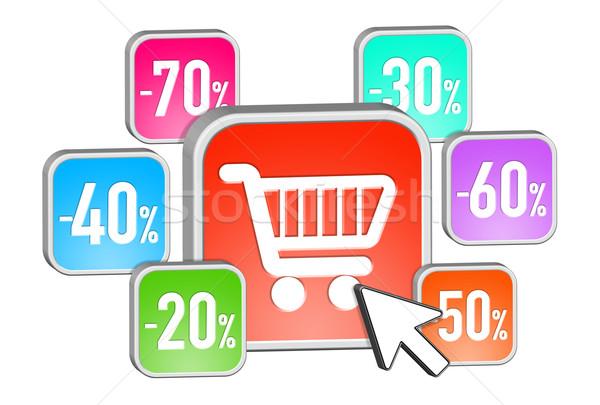 Sales icons flying together Stock photo © sdecoret