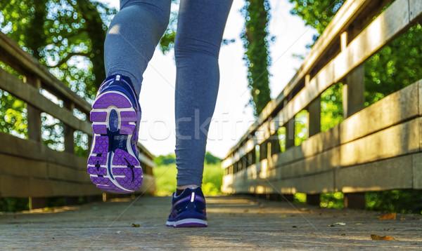 женщину работает области фитнес девушки красочный Сток-фото © sdecoret