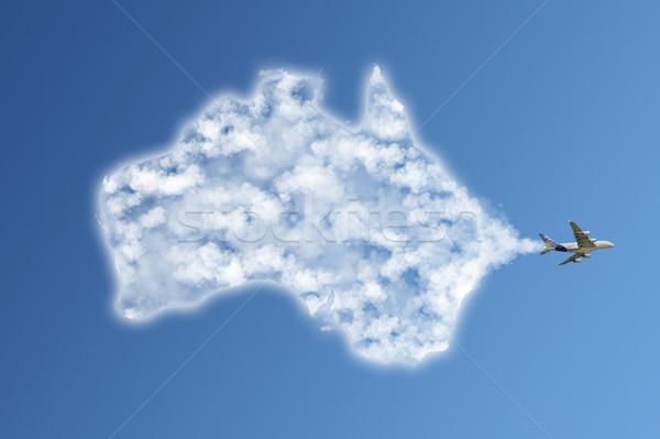 иллюстрация облака известный памятники форма Blue Sky Сток-фото © sdecoret