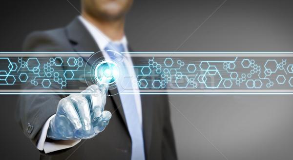 Empresário robô mão digital interface negócio Foto stock © sdecoret
