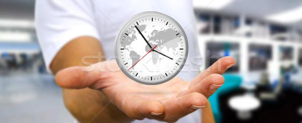 Empresário grande branco cronômetro Foto stock © sdecoret