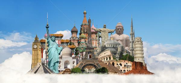 実例 有名な 世界 モニュメント 地球 夏 ストックフォト © sdecoret
