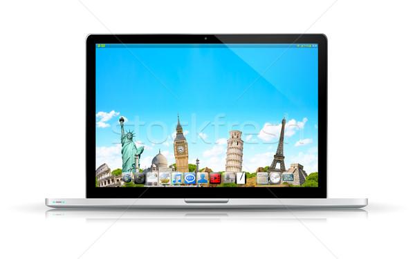 современных цифровой ноутбука черный серебро белый Сток-фото © sdecoret