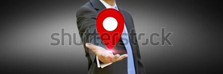 Işadamı dijital harita eller Stok fotoğraf © sdecoret