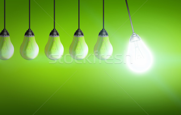 Colorful lightbulb Stock photo © sdecoret