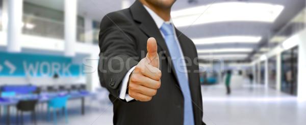Businessman Thumbs up Stock photo © sdecoret