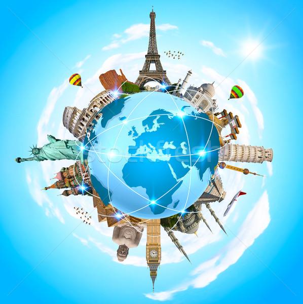 有名な モニュメント 世界 世界中 地球 夏 ストックフォト © sdecoret