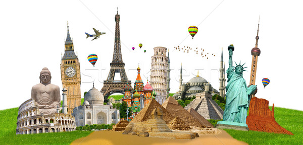 Illustrazione noto mondo monumenti mondo terra Foto d'archivio © sdecoret