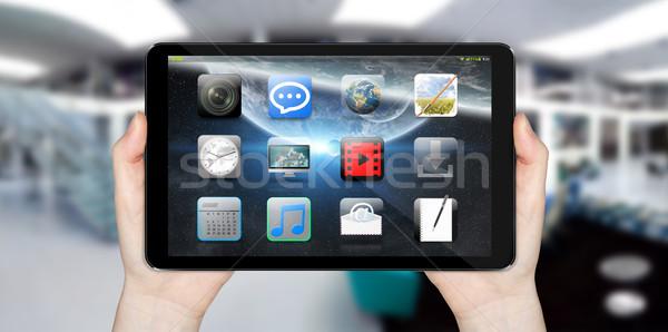Modernes numérique comprimé affaires téléphone monde Photo stock © sdecoret