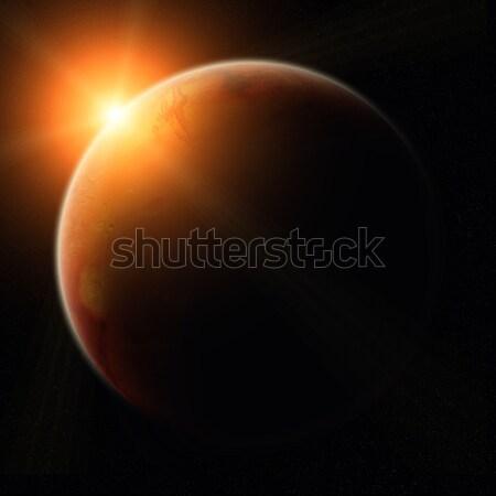 View of planet Mars Stock photo © sdecoret