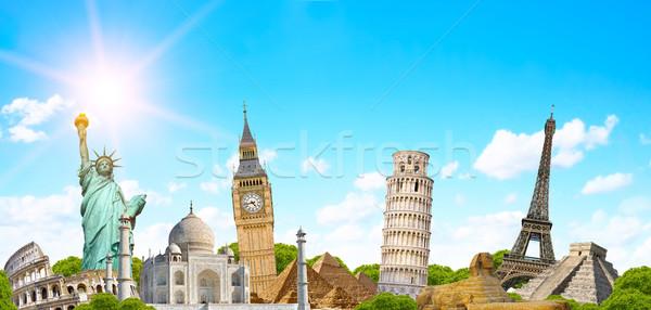 ünlü dünya anıtlar dünya toprak seyahat Stok fotoğraf © sdecoret