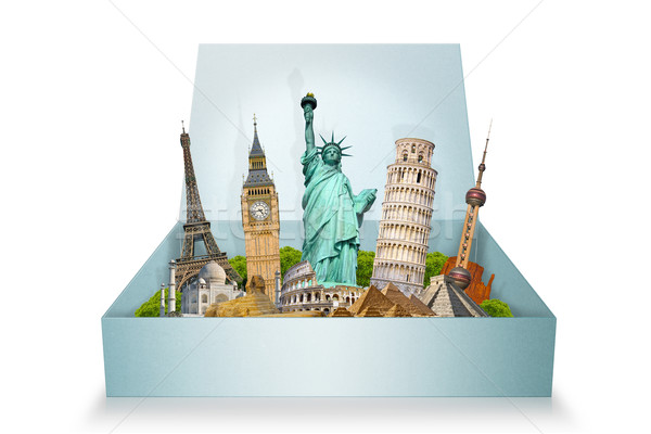 Noto monumenti mondo insieme finestra mondo Foto d'archivio © sdecoret