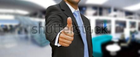 Jonge man kantoor lege hand man straat Stockfoto © sdecoret