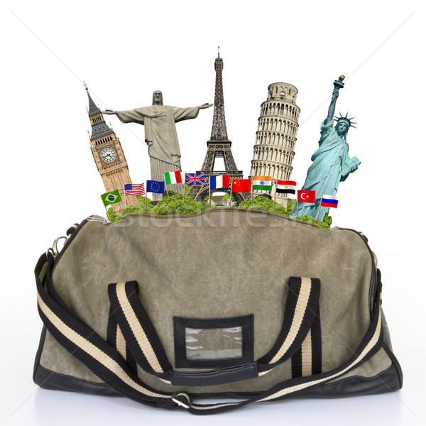 örnek seyahat çanta tok ünlü anıtlar Stok fotoğraf © sdecoret