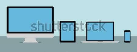 Flat design collection modern digital tech device Stock photo © sdecoret